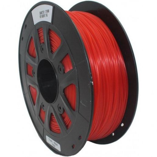 PETG пластик 1,75 SolidFilament прозрачный красный 1 кг