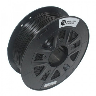 PLA пластик 1,75 SolidFilament черный 1 кг