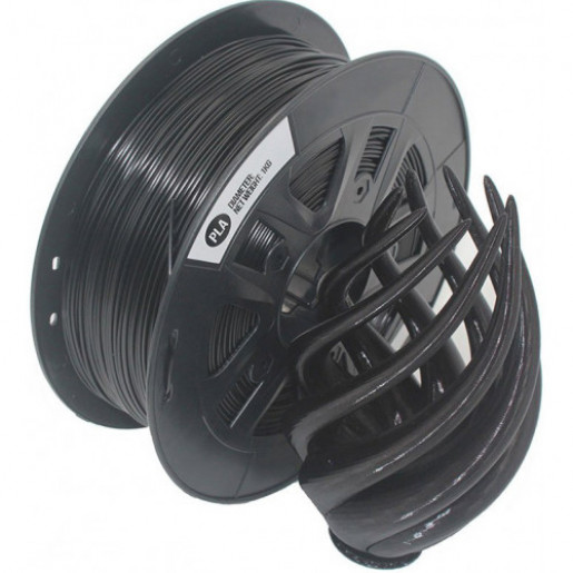 PLA пластик Solidfilament 2,85 мм, 1 кг, черный