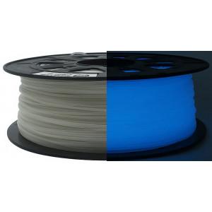 ABS пластик SolidFilament 1,75 светящийся в темноте синий
