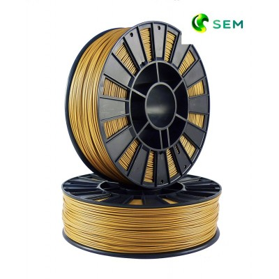 ABS пластик 1,75 SEM золотой металлик 1 кг