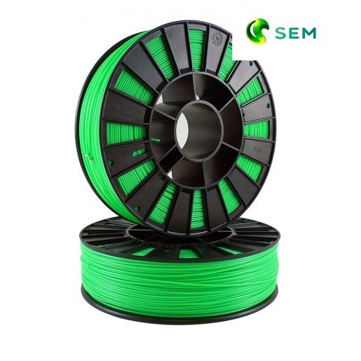 ABS пластик 1,75 SEM флуоресцентный зеленый 1 кг