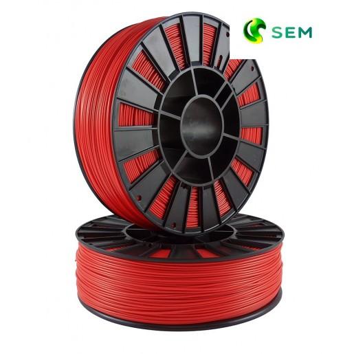 ABS пластик 1,75 SEM красный 1 кг