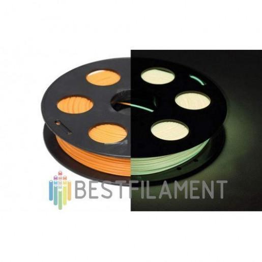 PLA пластик BestFilament 1,75 0,5 кг светящийся в темноте (лимонный)
