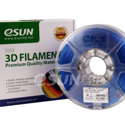 PLA пластик ESUN 1,75 мм, 1 кг, прозрачно-голубой
