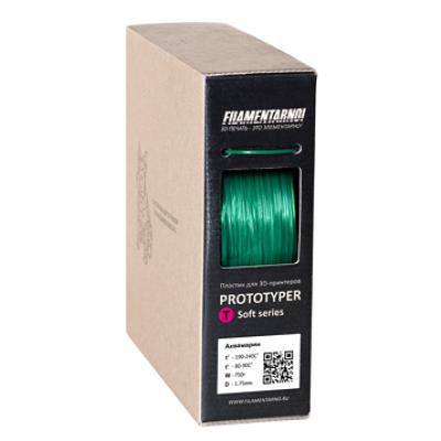 Пластик 1,75 Filamentarno T-Soft аквамарин 0,75 кг