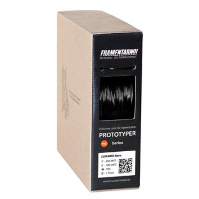 Пластик Filamentarno Pro VOLTA черный 0,5 кг