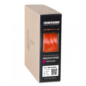 Пластик Filamentarno T-Soft Красно-оранжевый 0,75 кг