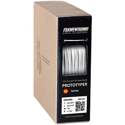 Пластик Filamentarno Pro Ceramo Белый 0,75 кг