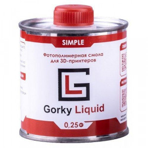 Фотополимерная смола Gorky Liquid Simple синий 0,5 кг
