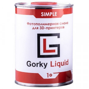 Фотополимерная смола Gorky Liquid Simple синий 1 кг