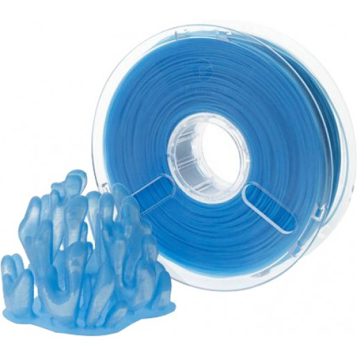 Пластик PolyPlus PLA 1,75 синий прозрачный 0,75 кг