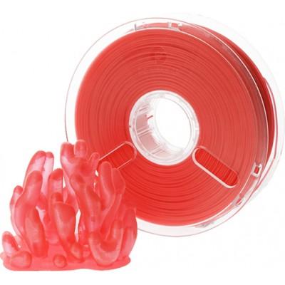 Polymaker PolyPlus PLA 1,75 красный прозрачный 0,75 кг