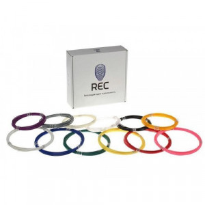 Набор REC ABS для 3D ручки 12 цветов 300г