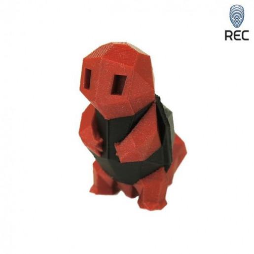 PLA пластик 1,75 REC кирпичный металлик 0,75 кг