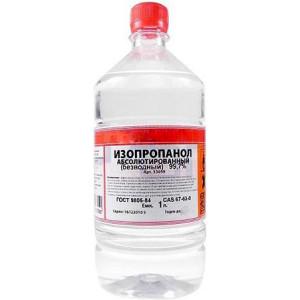 Изопропиловый спирт в бутылках 1 л