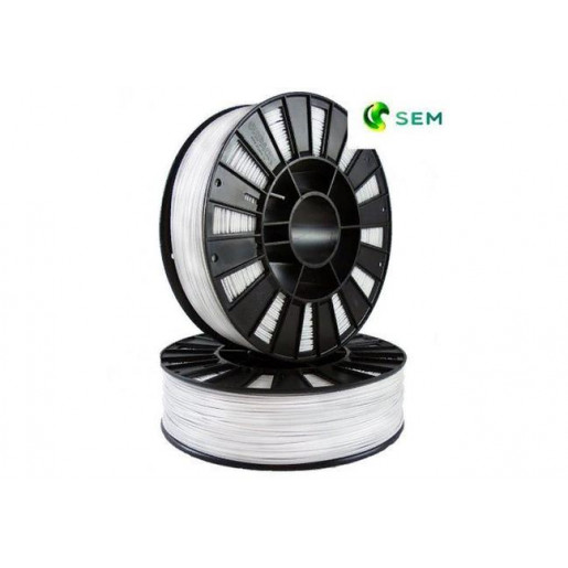 PLA пластик 1,75 SEM белый 1 кг