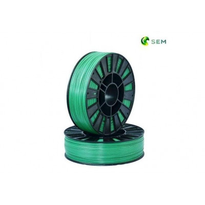 PLA пластик 1,75 SEM зеленый металлик 1 кг