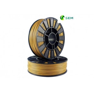 PLA пластик 1,75 SEM золотой (металлик) 1 кг