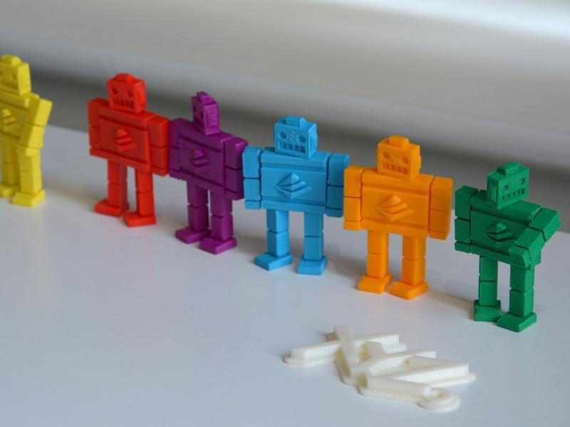 распечатанные на 3Д-принтере роботы