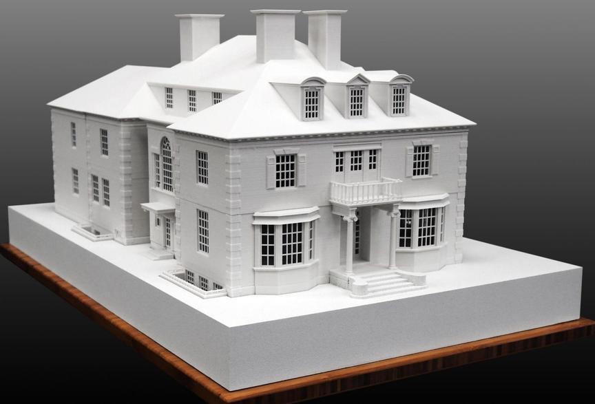 Распечатанный макет дома