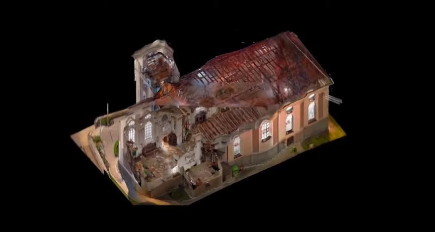 3д модель здания