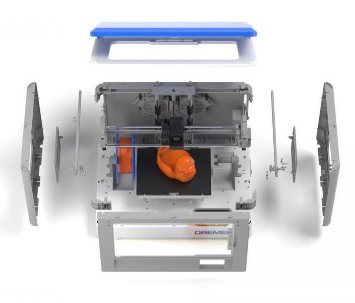 3D принтер Dremel 3D20 в разрезе