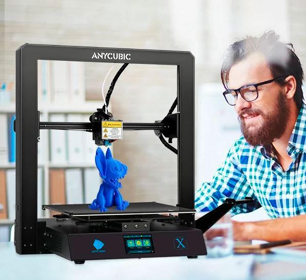изделие синее на принтере