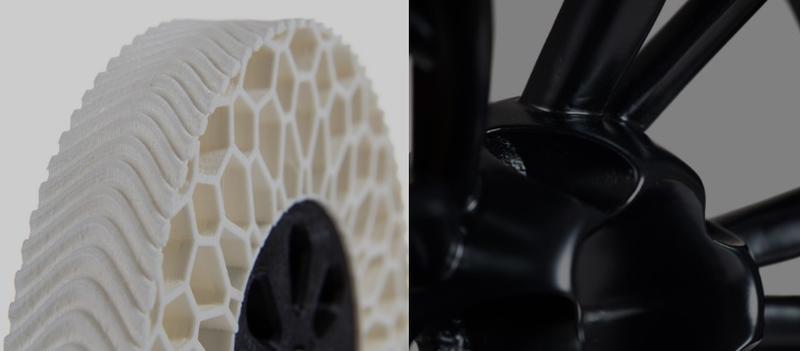 белое колесо и черная деталь
