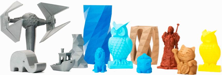 Примеры изделий 3D МФУ Snapmaker