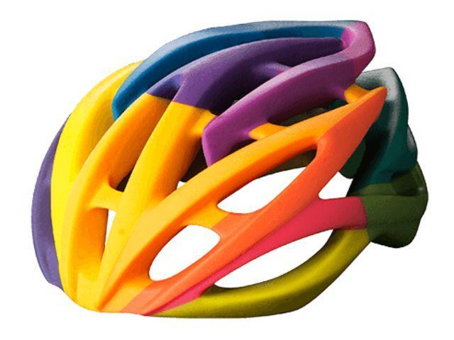цветная вело каска