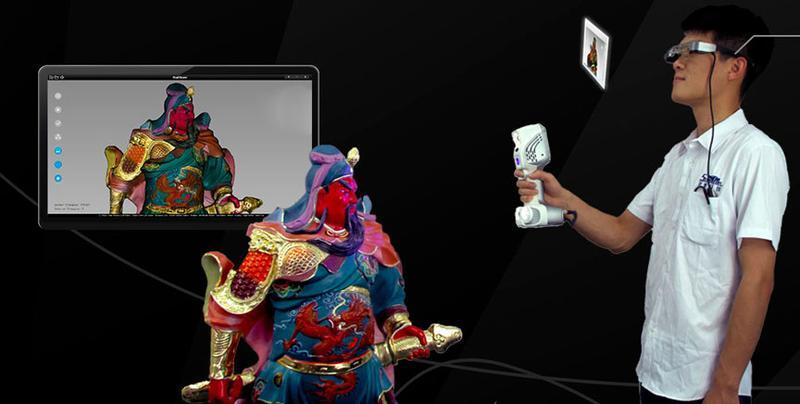 сканирование фигурки самурая