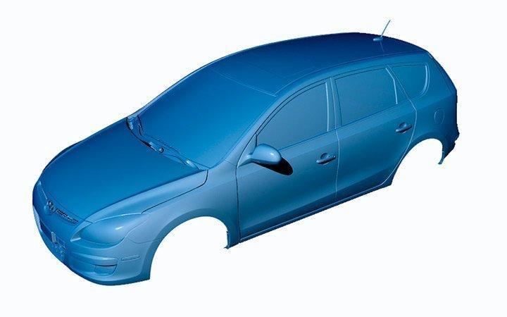 отсканированное авто