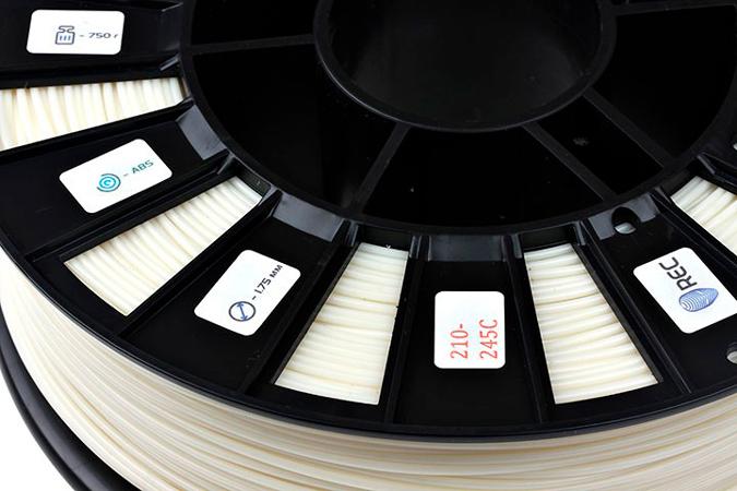 ABS пластик 1,75 REC натуральный 0,75 кг особености