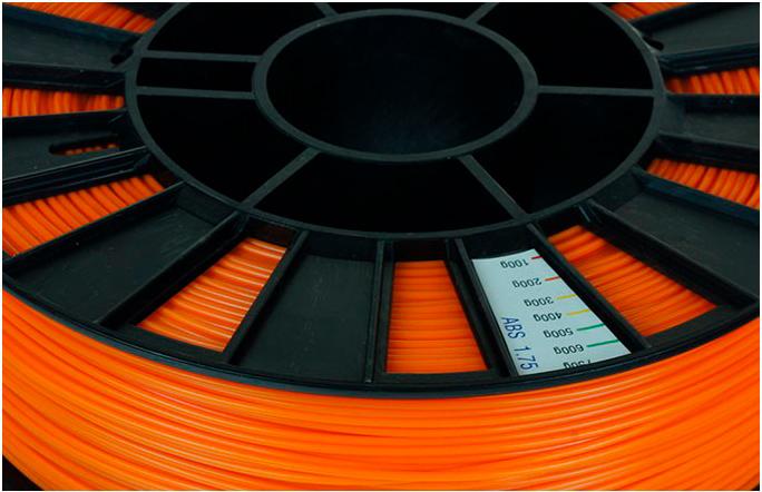 ABS пластик 1,75 REC оранжевый 0,75 кг особенности