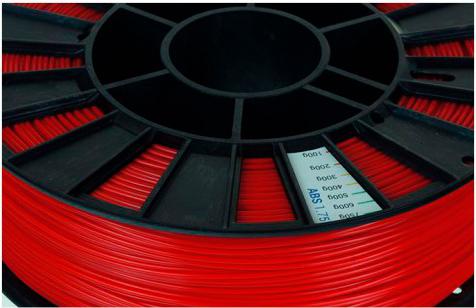 ABS пластик 1,75 REC красный особености