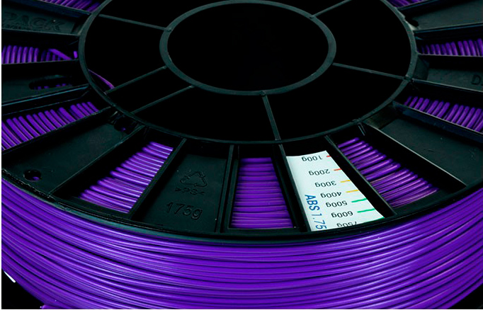 ABS пластик 1,75 REC фиолетовый 0,75 кг  особенности