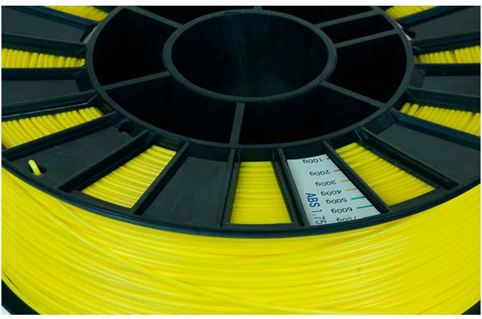 ABS пластик 1,75 REC желтый 0,75 кг особености