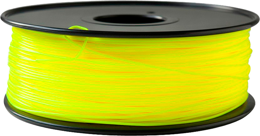 PLA пластик FL-33 1,75 флюоресцентный желтый 1 кг