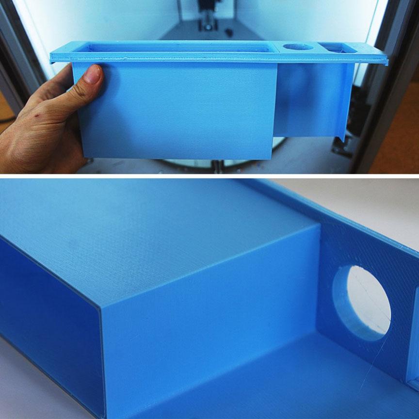 PLA пластик 1,75 REC голубой 0,75 кг