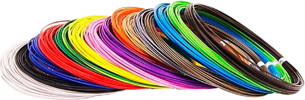 Набор пластика для 3D-ручки (15 цветов)